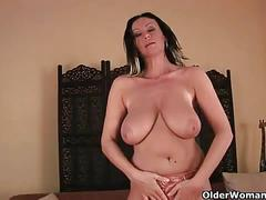 Busty milfs pleasuring themselves with vibrators