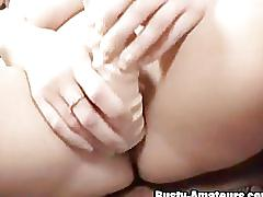 Busty sara drills her cunt with the huge dildo