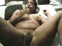 amateur, toys, squirt, toy, ebony, masturbation, black, glass-dildo, landing-strip, masturbate, solo-girl, homemade, big-boobs, natural-boobs, brunette