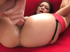 Brunette latina ann marie gets banged very hard