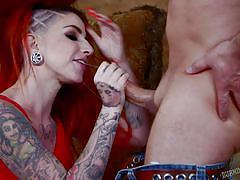 Bad girl sheena handling a horny cock
