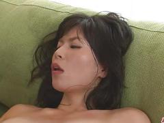 Hottie saki aoyama asian girl giving blowjob and fucking