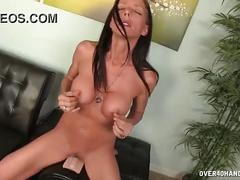 Horny milf tries her new sexy toy
