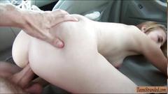 Amateur blonde finally gets her pussy slammed pov