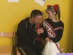 amateur, brunette, pussy, teen, uniform, brown hair, cheerleader, reality, shaved pussy, tight pussy, young