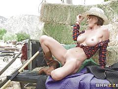milf, big tits, round ass, outdoor, big cock, blowjob, farm, masturbating, from behind, anal sex, big butts like it big, brazzers, krissy lynn, xander corvus