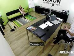 Pretty brunette linda hardcore fuck in the office