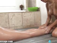Soapymassage asa akira gives lesbian first massage