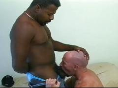 White dick stuffing tight black ass hardcore