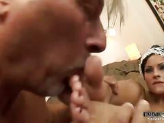 Maid abbie gets an ass fuck