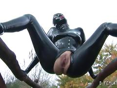 Latex play outdoors