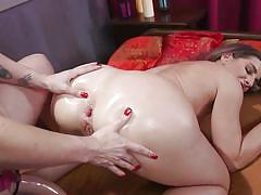 Busty bella rossi fucked her lesbian lover's tight ass