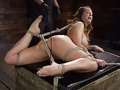 Busty milf gets bound and punished
