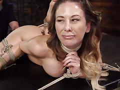 milf, tattoo, bdsm, big tits, whipping, punishment, domination, from behind, clit rubbing, rope bondage, nipples pinching, hogtied, kink, cherie deville