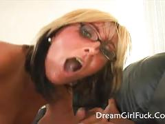 Candy jones - interracial for blonde babe and she got a crea