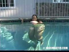 Missy pool scene