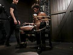 bdsm, handjob, rope bondage, interracial, deepthroat, threesome, black, domination, punishment, bbc, men on edge, kink men, devin trez