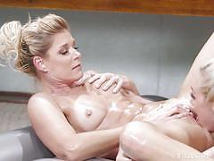 milf, blonde, massage, lesbians, kissing, oiled, fingering, rubbing, masseuse, pussy eating, boobs groping, all girl massage, nuru network, india summer, lyra law