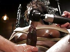 rope bondage, black, bdsm, cock torture, handjob, threesome, interracial, piercing, bbc, vibrator, men on edge, kink men, devin trez