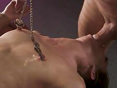 bdsm, babe, deepthroat, vibrator, face fuck, pussy torture, nipple clamps, device bondage, sex and submission, kink, stirling cooper, zoe sparx