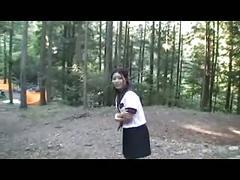 Aya goes to camping