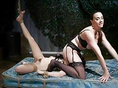 milf, facesitting, bdsm, lesbians, big tits, stockings, pussy licking, lezdom, hairy pussy, nipple clamps, rope bondage, whipped ass, kink, chanel preston, jane wilde