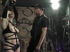 blonde, bondage, bdsm, mature, whipping, slave, domination, tied up, gagged, sensual pain, mary ellen, master charles