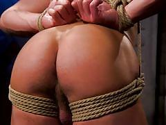 ball gag, bdsm, whipping, rope bondage, interracial, domination, tattoo, suspended, punishment, anal, arabic, bound gods, kink men, casey everett, sharok
