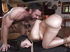 anal, bdsm, babe, big cock, punishment, domination, butt plug, from behind, rope bondage, sex and submission, kink, charles dera, whitney wright