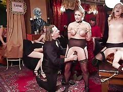 bdsm, babe, orgy, redhead, vibrator, pussy licking, tits torture, electric wand, sex slaves, rope bondage, the upper floor, kink, penny pax, michael vegas, mona wales, skylar snow