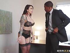 milf, handjob, big ass, ebony, interracial, pov blowjob, busty, brunette, tattooed, under table, bbc, real wife stories, brazzers, isiah maxwell, ivy lebelle