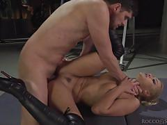 milf, blonde, threesome, babe, big cock, blowjob, busty, from behind, chains, mff, rocco siffredi, fame digital, kristof cale, nancy ace, cherry kiss
