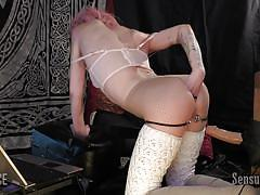Abigail puts on a show with her sex toys