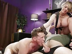 Submissive hubby receives much needed punishment from his wife