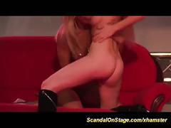 Wild lesbian scandal on public stage