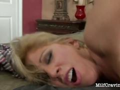 Lovely milf is fucking big black cock
