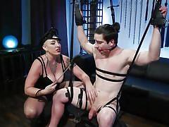 milf, handjob, femdom, bdsm, big tits, whipping, cock torture, suspended, ball gag, device bondage, rope bondage, divine bitches, kink, rick fantana, mistress kara