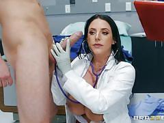 milf, big ass, big cock, doctor, huge tits, brunette, patient, from behind, cock sucking, at work, boobs groped, in hospital, doctor adventures, brazzers network, markus dupree, angela white