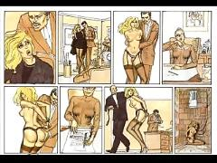 Cute little blonde in sexual bondage comic