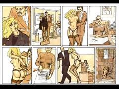 Cute little blonde in sexual bondage comic