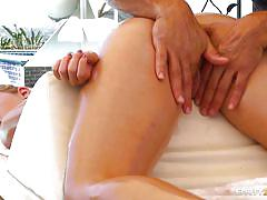Masseur is giving an amazing massage to a woman