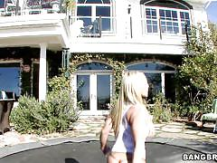 Watch this lovely blonde do it outdoors