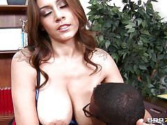 Sexy latina milf sucking black cock