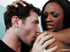 Ebony milf teacher gets interracial