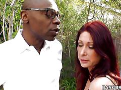 milf, heels, big ass, black, big tits, redhead, outdoor, big cock, handjobs, stockings, lingerie, tiffany mynx, monsters of cock, bang bros