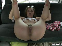 Kristina rose showing off her sexy body in the bangbus