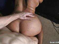 Hot latina being fucked in the bang bus