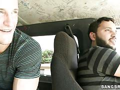 big ass, bang bus, money talks, latina, brunette, public pickup, huge breasts, angelina, bang bus, bang bros