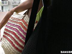 small tits, petite, bang bus, money talks, public, pickup, short hair, brunette, nice lips, lilly hall, bang bus, bang bros