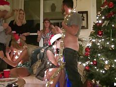 Sluts sucking cock on christmas party